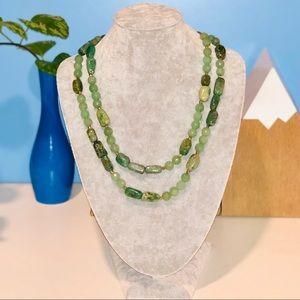 Jewelry - 📿 Polished Grossular Garnet Stone Necklace